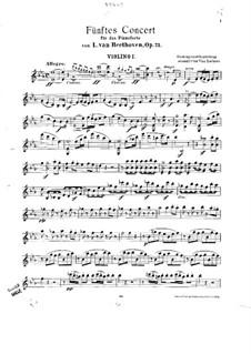 Весь концерт: Версия для фортепиано и струнного квинтета – партии струнных by Людвиг ван Бетховен