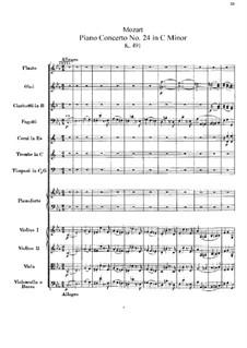 Концерт для фортепиано с оркестром No.24 до минор, K.491: Партитура by Вольфганг Амадей Моцарт