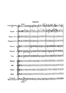 Requiem aeternam: Партитура by Вольфганг Амадей Моцарт