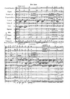Dies irae: Партитура by Вольфганг Амадей Моцарт