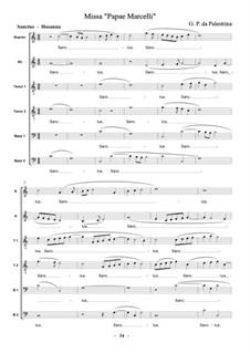 Missa Papae Marcelli: Sanctus by Джованни да Палестрина