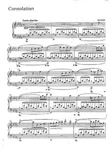 Утешения, S.172: No.3 ре-бемоль мажор by Франц Лист