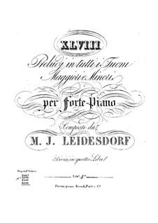 Прелюдии для фортепиано: Книга IV by Максимилиан Йозеф Лайсдорф