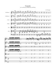 Концерт для двух кларнетов (шалюмо), струнных и фортепиано: Часть I by Георг Филипп Телеманн