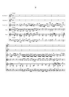 Концерт для двух кларнетов (шалюмо), струнных и фортепиано: Часть II by Георг Филипп Телеманн