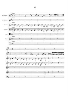 Концерт для двух кларнетов (шалюмо), струнных и фортепиано: Часть III by Георг Филипп Телеманн