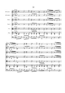 Концерт для двух кларнетов (шалюмо), струнных и фортепиано: Часть IV by Георг Филипп Телеманн