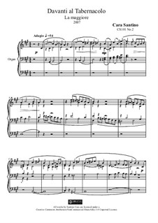 Before the Tabernacle, for organ, CS101 No.2: Before the Tabernacle, for organ by Santino Cara