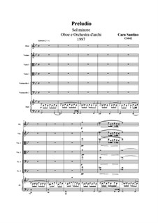 Prelude in g minor for oboe and orchestra, CS042: Prelude in g minor for oboe and orchestra by Santino Cara