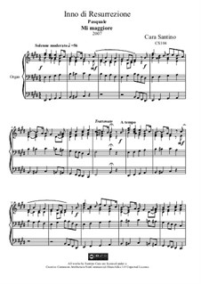 Hymn of the resurrection for organ, CS104: Hymn of the resurrection for organ by Santino Cara