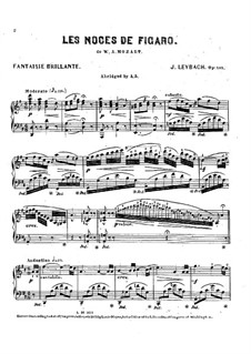 Фантазия на темы из оперы 'Свадьба Фигаро' Моцарта, Op.101: Для фортепиано by Жозеф Лейбах