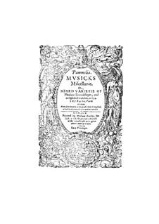 Pammelia. Musicks Miscellanie: Pammelia. Musicks Miscellanie by Томас Рэвенскрофт