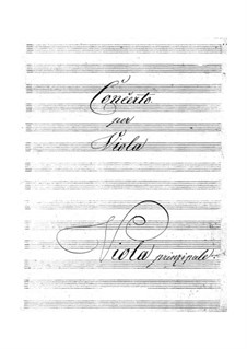 Концерт для альта с оркестром до мажор, BI 541: Концерт для альта с оркестром до мажор by Алессандро Ролла