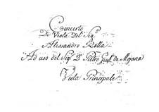 Концерт для альта с оркестром фа мажор, BI 549: Концерт для альта с оркестром фа мажор by Алессандро Ролла