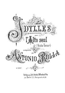 Шесть идиллий: Изданная версия и манускрипт by Антонио Ролла