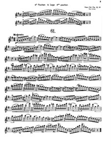 Hundred Studies for Violin, Op.32: Книга IV by Ганс Зитт