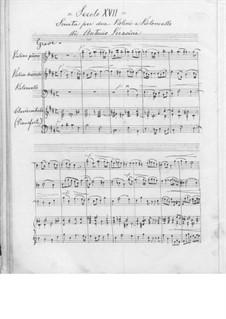 Соната для двух скрипок, виолончели и клавесина (или фортепиано): Соната для двух скрипок, виолончели и клавесина (или фортепиано) by Антонио Верачини