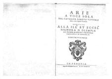 Арии для голоса и бассо континуо: Арии для голоса и бассо континуо by Лорето Виттори