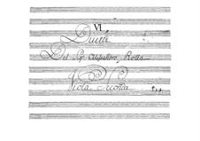 Шесть дуэтов для двух альтов, BI 22, 5, 11, 21, 20, 15: Партия I альта by Алессандро Ролла