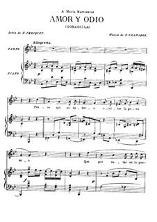 Tonadillas en estilo antiguo (Tonadillas in the Old Style): No.1 Любовь и ненависть, для голоса и фортепиано by Энрике Гранадос