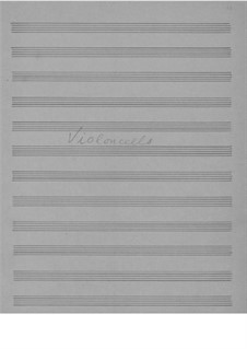 Соната для виолончели и фортепиано ля минор, Op.36: Сольная партия by Эдвард Григ