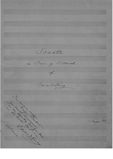 Соната для виолончели и фортепиано ля минор, Op.36: Части I-II by Эдвард Григ