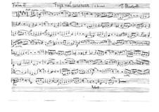 Fuga real canónica for String Quartet: Violin II, viola and cello parts by Висенте Марторель