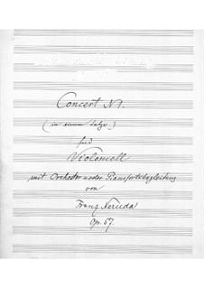 Концерт для виолончели с оркестром No.1 ми минор, Op.57: Партитура для виолончели и фортепиано, Сольная партия by Франц Неруда