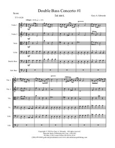 Double Bass Concerto No.1: 1st Movement by Gary Edwards
