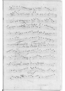 Шесть квартетов для флейты, струнных и бассо континуо: Шесть квартетов для флейты, струнных и бассо континуо by Фридрих Хартманн Граф