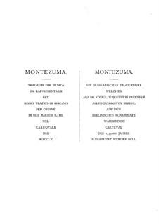 Монтесума, B:I:29: Акт I by Карл Генрих Граун