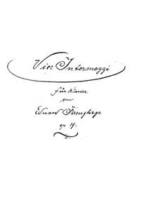 Четыре интермеццо, Op.19: No.1 Тема с вариациями by Эдуард Кройцхаге