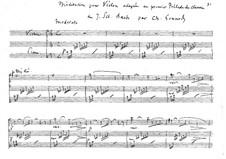 Размышление на тему Прелюдии No.1 Баха: Для скрипки и фортепиано by Шарль Гуно