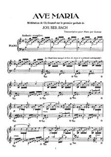 Размышление на тему Прелюдии No.1 Баха: Для фортепиано by Шарль Гуно