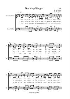 Ария Папагено: Для голоса и фортепиано (соль мажор) by Вольфганг Амадей Моцарт