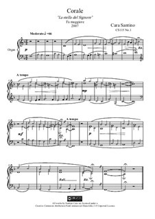 In f major, the star of the Lord, CS115 No.1: In f major, the star of the Lord by Santino Cara