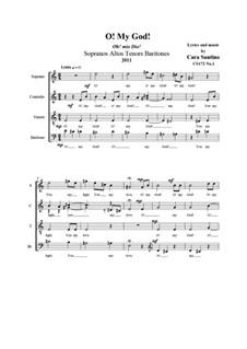 O! my God! SATBr a cappella, CS172 No.1: O! my God! SATBr a cappella by Santino Cara