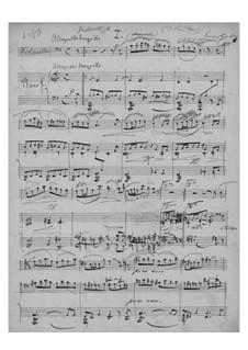 Интермеццо для виолончели и фортепиано, EG 115: Интермеццо для виолончели и фортепиано by Эдвард Григ