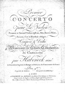 Концерт для скрипки с оркестром No.1 ля минор: Скрипка - сольная партия by Франсуа Антуан Абенек