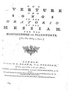 Фрагменты: Увертюра и песни, для голоса и клавесина (или фортепиано) by Георг Фридрих Гендель