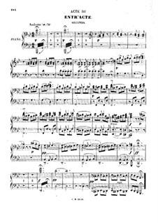 Цампа, или Мраморная невеста: Акт III, для фортепиано в четыре руки by Фердинанд Герольд