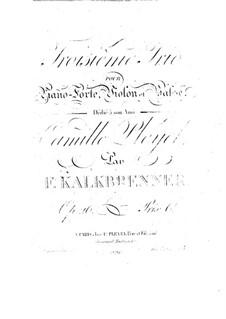 Фортепианное трио No.3, Op.26: Фортепианное трио No.3 by Фридрих Калькбреннер