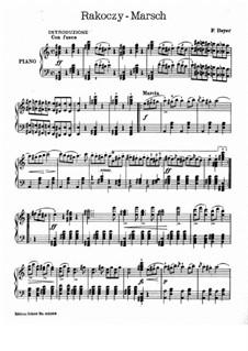 Осуждение Фауста, H.111 Op.24: Венгерский марш, для фортепиано by Гектор Берлиоз