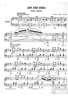 Auf der Höhe. Tanz-Idille, Op.281: Für einen Interpreten by Густав Ланге