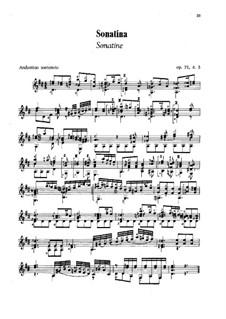 Три сонатины для гитары, Op.71: Сонатина No.3 by Мауро Джулиани