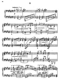 Соната для фортепиано No.1 си-бемоль минор, Op.74: Часть II by Александр Глазунов