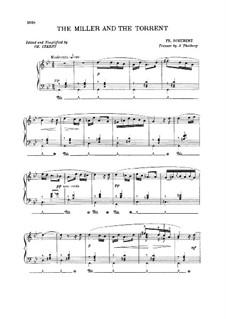 No.19 Мельник и ручей: Клавир by Франц Шуберт