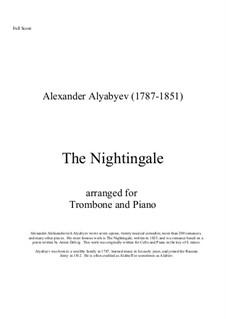 Соловей: Для тромбона и фортепиано by Александр Алябьев