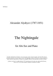 Соловей: For alto saxaphone and piano by Александр Алябьев
