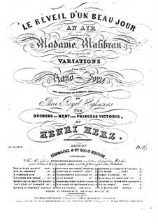 Récréations Musicales, Op.71: Suite No.4, Le reveil d'un beau jour by Анри Герц
